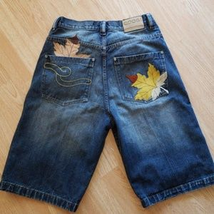 Men's COOGI Jean Shorts Embroidered W 32